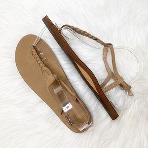 NEW Rainbow T-Street Braided Strap Sandals